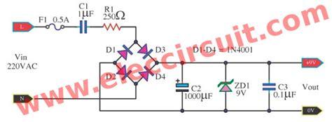 transformerless power supply circuit eleccircuit
