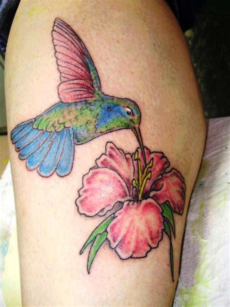 hummingbird with flower tattoo designs 35 cool hummingbird tattoos slodive