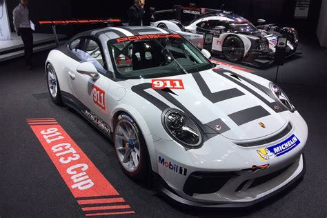 Porsche Cup by 2017 Porsche 911 Gt3 Cup Car Unveiled At Motor Show