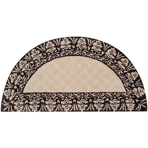 Safavieh Total Performance Ivory Chocolate 2 Ft X 4 Ft Half Area Rugs