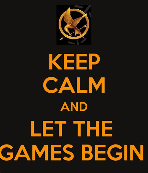 Let The Begin keep calm and let the begin poster mikaela keep