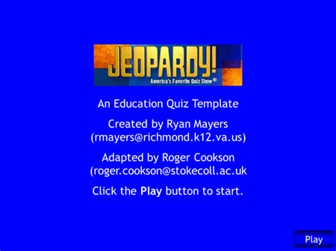powerpoint jeopardy template with scoring interactive self scoring jeopardy template by rcook2sc