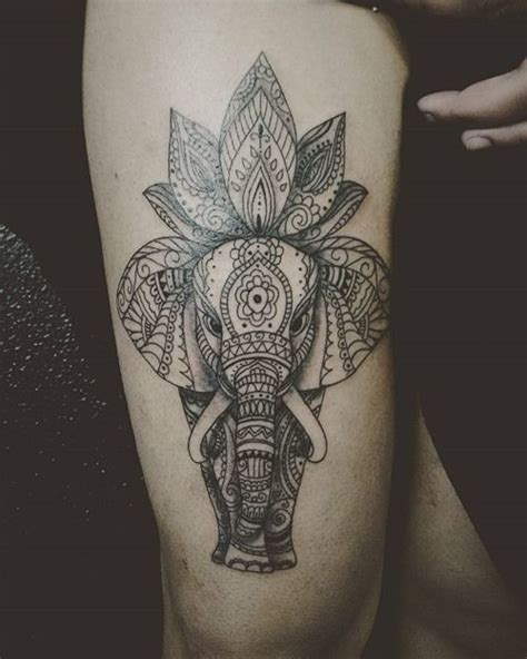 elephant and rose tattoo 35 stunning lotus flower design flower tattoos