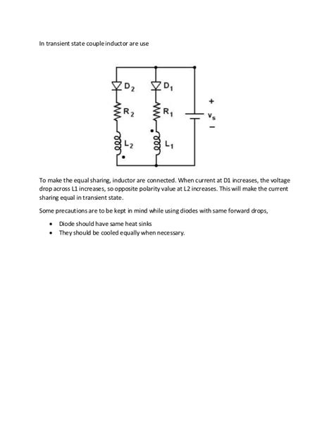 diodes in parallel problems series and parallel operation of power devices