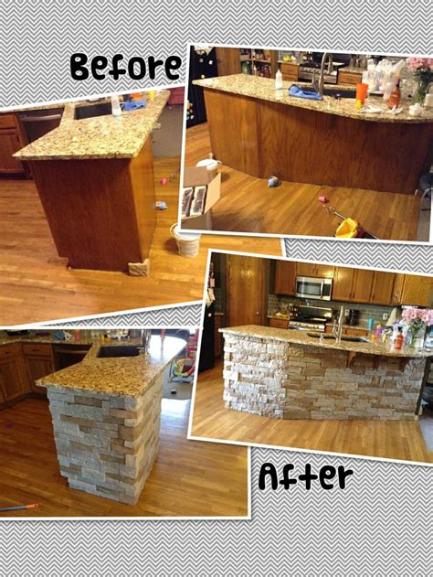 stone kitchen islands air stone island diy autumn mountain kitchen reno