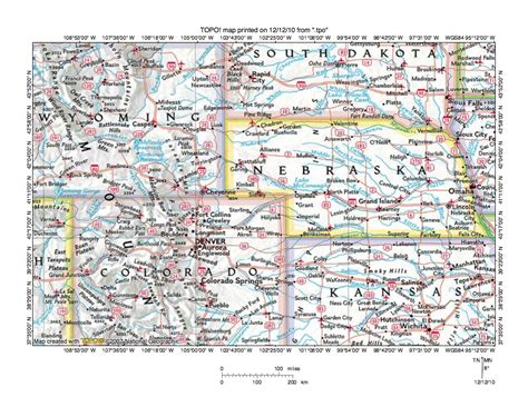 colorado wyoming map map of wyoming and south dakota