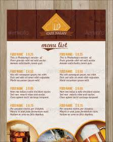 Restaurant Menu Card Design Templates by Sle Menu Cards 29 In Psd Pdf Word