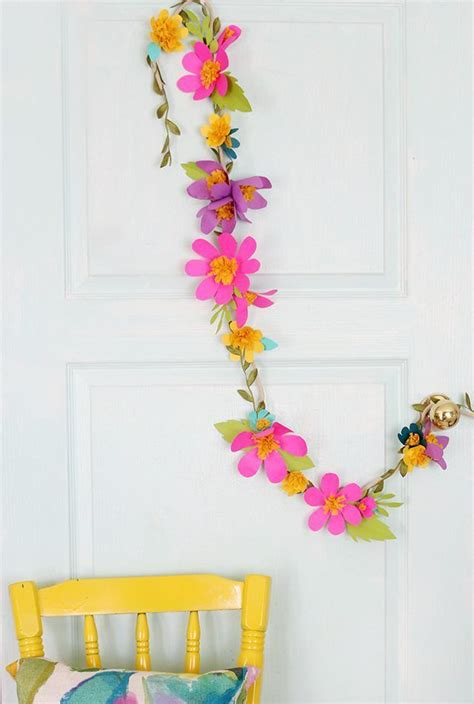 How To Make Tissue Paper Flower Garland - best 20 paper flower garlands ideas on