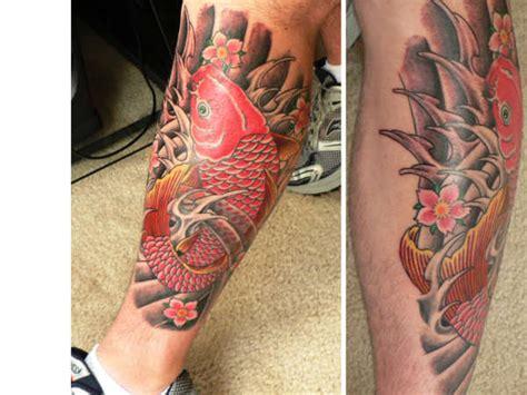 tattoo koi red finished red koi tattoo