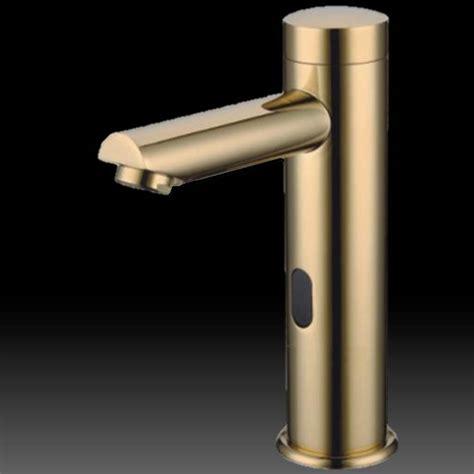 Beautiful Motion Sensor Bathroom Faucet #4: Touchless-motion-Faucet-gold-tone.jpg