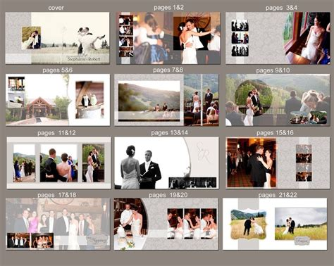 instant 12x12 wedding album template