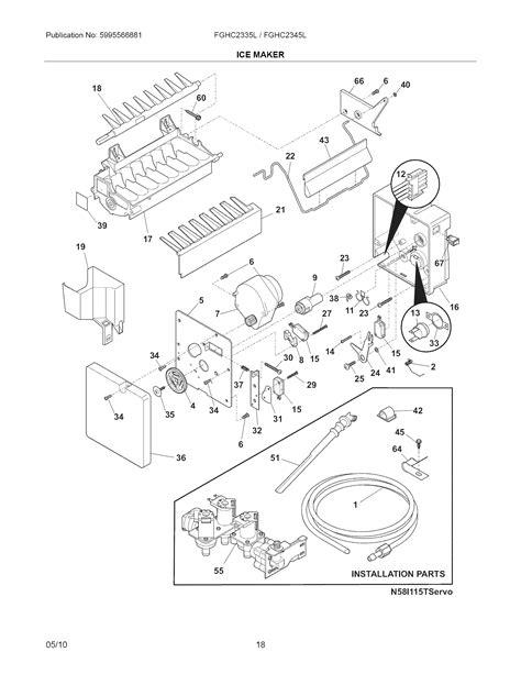 frigidaire maker diagram refrigerator parts frigidaire refrigerator parts diagram