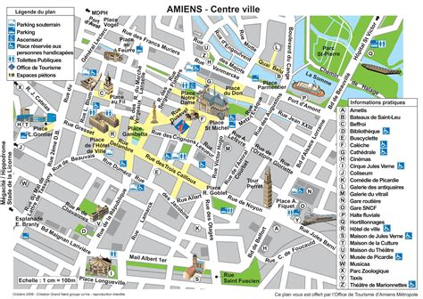 map city of amiens tourist map