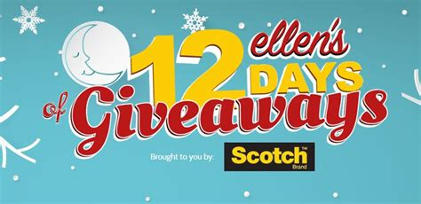How Much Is Ellen 12 Days Of Giveaways Worth - ellen s 12 days of giveaways win one of the daily prizes at ellentube com 12days