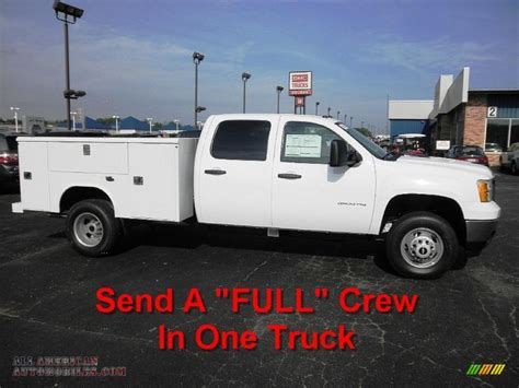 2011 gmc 3500hd work truck crew cab utility truck
