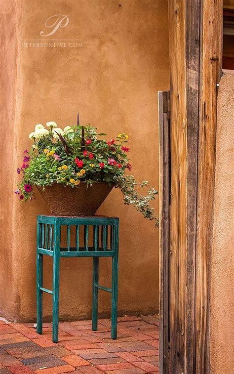 delightful Front Door Colors For Blue House #5: 0a0e0afe4d9f8801573ed6d51c1943a7--patios-mexicanos-santa-fe-style.jpg