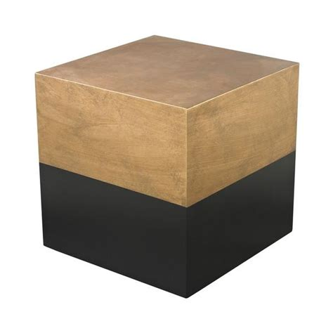 Black Table Ls Ls Dimond Home Black And Gold Draper Cube Table In Black And Gold
