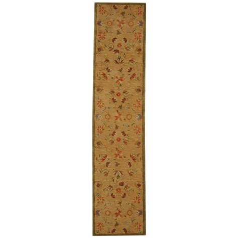 rug runners 2 x 14 safavieh anatolia beige green 2 ft 3 in x 14 ft runner an525a 214 the home depot