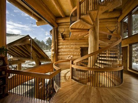 Dso Gamis Naura Syar I this is literally a stairway to the heaven of log homes
