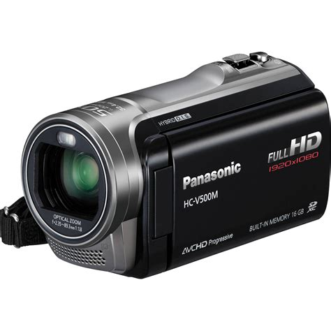 with camcorder panasonic 16gb v500m hd camcorder hc v500mk b h photo