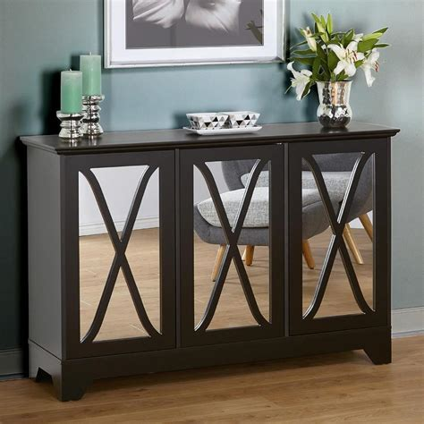 Black Terrace Mirrored Buffet Mirrored Buffet Console Table