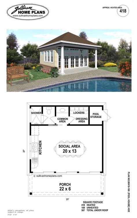25 best ideas about pool house plans on