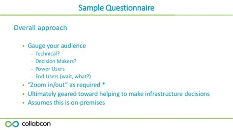 business requirements questionnaire template brian lalancette collabcon 2015 developing a business requirements st