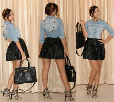 mariam issa h m denim shirt forever 21 black faux