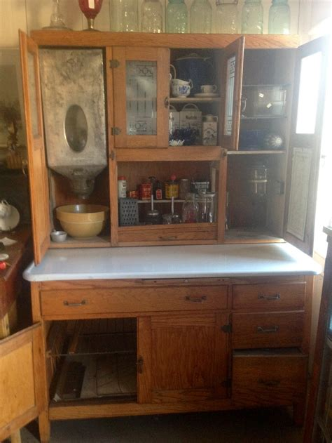 Hoosier Style Kitchen Cabinet All Original Hoosier Style Kitchen Cabinet Is It A Sellers No Label Collectors Weekly