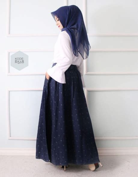 Overall Rok Payung W196 rok payung motif r518 baju style ootd