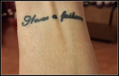 wrist quote tattoo i m a with tattoos megan 3 2 dogs and 1