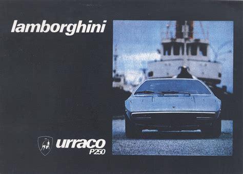 Lamborghini Books Book Lamborghini Urraco P250 Uso E Manutenzione