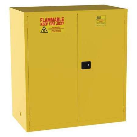 Yellow Flammable Storage Cabinet Jamco Flammable Safety Cabinet 120 Gal Yellow Bm120 Zoro