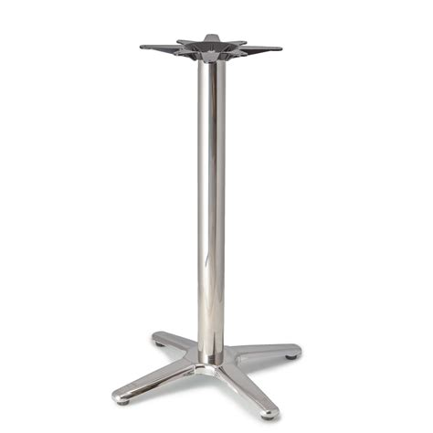 counter height table base patio 4 aluminum table base counter height 34 3 4 quot tablebases quality table bases