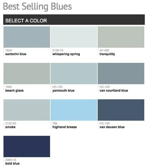 best selling paint benjamin moore best selling blues home pinterest