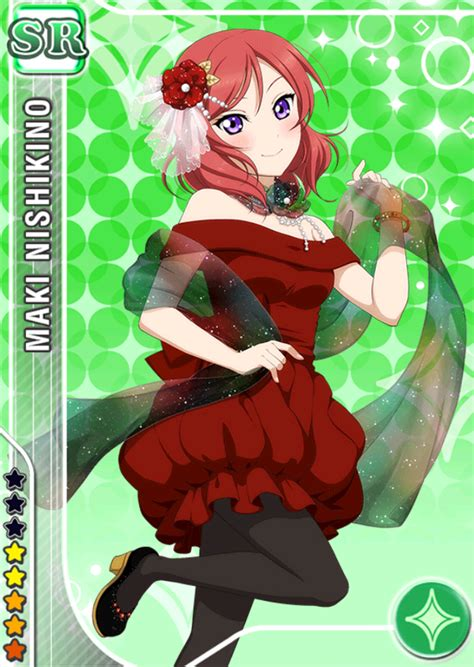 live school idol festival card template file maki sr344 png live school idol festival