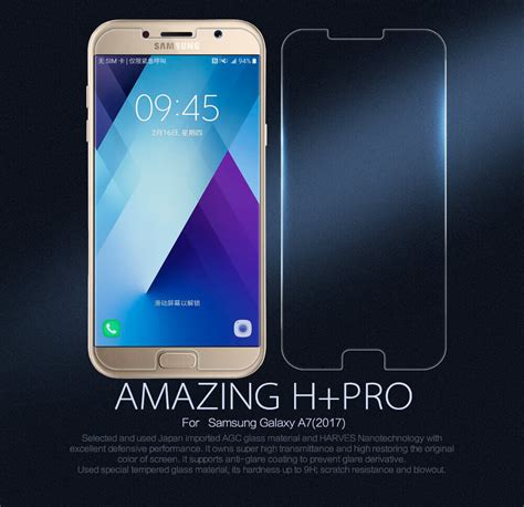 Nillkin Samsung Galaxy A7 2017 Free Anti Gores nillkin amazing h pro tempered glass screen protector for samsung galaxy a7 2017