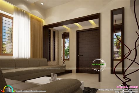 living dining wash area  kitchen kerala home design