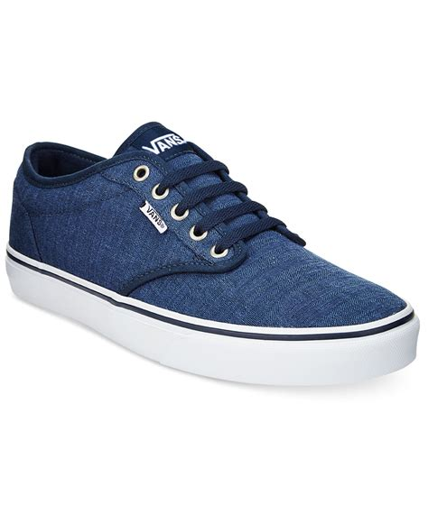 low top sneakers mens vans s atwood low top sneakers in blue for lyst