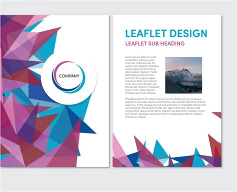 free leaflet design website abstract sharp background leaflet vector design free