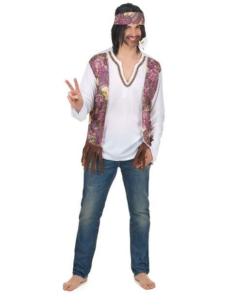 costume da hippie con fascia per uomo
