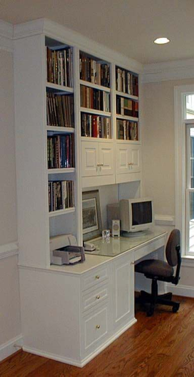 White Cabinet Computer Desk Built In Ideas In A Home Built In Desk