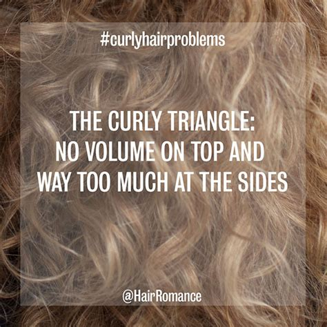 how to avoid triangle hair curls week common curly hair problems and solutions