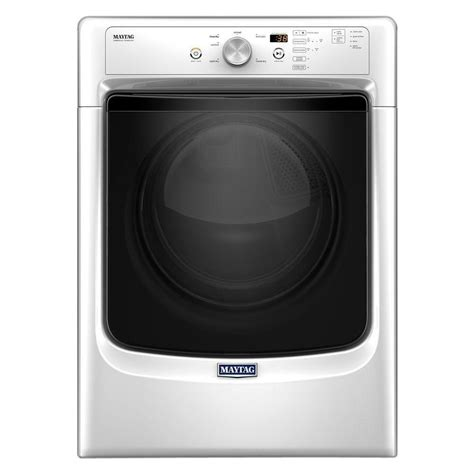 maytag 7 4 cu ft electric dryer in white med3500fw the
