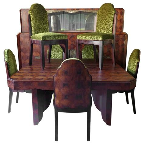 deco dining room set by mercier freres 1920s