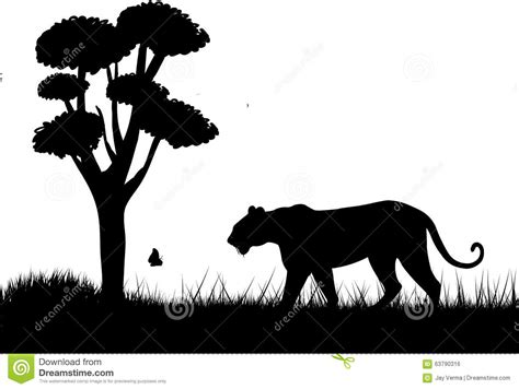 tiger silhouette stock vector image 63790316