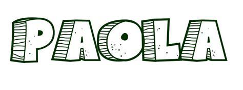 imagenes que digan paola dibujo para colorear nombre paola
