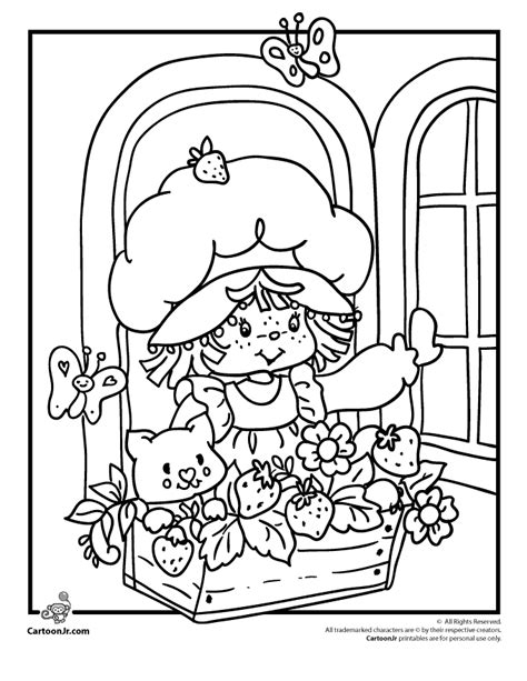 vintage geared charm coloring book books vintage strawberry shortcake coloring pages az coloring