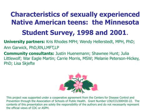 What Qualities Make An American Ppt Characteristics Of Sexually Experienced American The Minnesota Student
