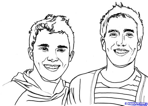 big time rush coloring pages coloring home